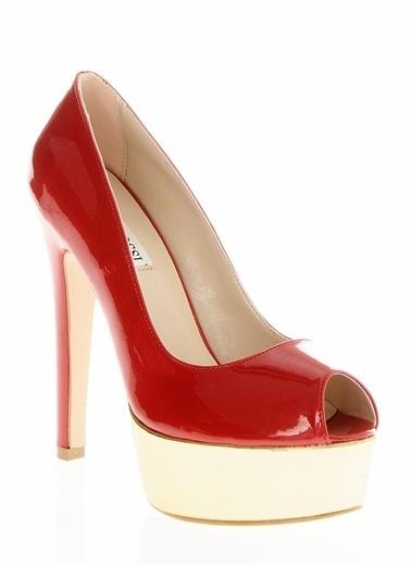 Casa Rossi Platform Topuklu Ayakkabı Kırmızı